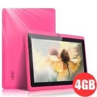 Q88++ 4GB Allwinner A13 DDR3 512MB 7inch Capacitive Screen Android 4.0 Dual Camera Tablet PC - Pink