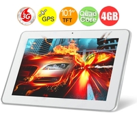 "AMPE A10 3G Version 10.1"" Android 4.1 Qualcomm 9625 Quad Core Tablet PC with 1GB DDR2/4GB ROM/3G/Bluetooth/GPS - White"