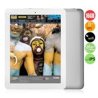 ONDA V813s Quad Core Tablet PC w/ Allwinner A31s 1.0GHz 8.0inch IPS Screen 1GB+16GB HDMI OTG WiFi - White + Silver