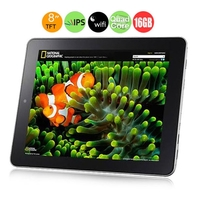 ONDA V813s Quad Core Tablet PC w/ Allwinner A31s 1.0GHz 8.0inch IPS Screen 1GB+16GB HDMI OTG WiFi - Black + Silver