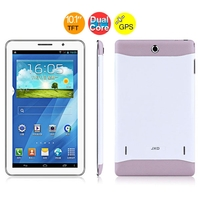 JXD P101 Dual Core 2G GSM Phone Tablet PC MTK6572 10.1 Inch 512MB+256MB Dual SIM GPS - Whit