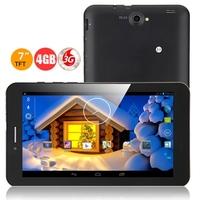 Freelander PD10 3GS 3G Phone Tablet PC w/ MTK8312 Dual Core 7.0 Inch 512MB+4GB Dual SIM GPS - Black