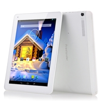 Freelander PD80 3GS Phone Tablet PC w/ MTK8382 Quad Core 9.7inch IPS Screen Single SIM 1GB+16GB GPS HDMI - Silver