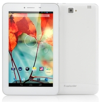 Freelander PX1C 3G Phone Tablet PC MTK8382 Quad Core 7.0 Inch IPS Screen 1GB+8GB Dual SIM GPS HDMI - White