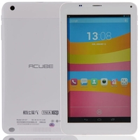 Cube Talk 7X U51GT-C4 Quad Core 3G Phone Tablet PC w/ MTK8382 7inch IPS Screen 1GB+8GB Dual SIM GPS - White