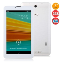JXD P3000F Dual Core 2G GSM Phone Tablet PC MTK8312 7.0 Inch 512MB+4GB Dual SIM Bluetooth - White