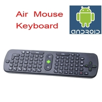 2.4GHz RC11 Wireless Air Mouse + Keyboard Android Remote Control for Computer/TV-Black