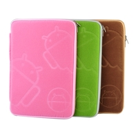 Universal Flannelette Zipper Protective Sleeve Inner Case for 10.1 Inch Tablet PC - Pink/Green/Coffee
