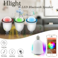 Smart Bulb Speaker Hlight H1002 - Bluetooth 4.0 2 in 1 Stereo Lamp Remote Control / Timing / Energy Saving / Shaking / Sleeping Decoration Light