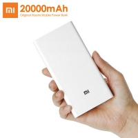 Original Xiaomi Mi 20000mAh Mobile Power Bank Quick Charging  -  WHITE