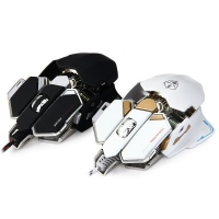 LUOM G10 Gaming Mouse - USB Wired Optical BLACK/WHITE
