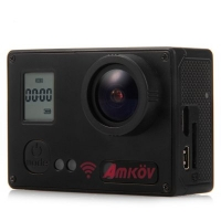 Amkov AMK7000S Action Camera - Sunplus 6350M SPCA6350 / OV4689 Image Sensor / 2 inches TFT / 170 Degree View Angle / Remote Control Watch