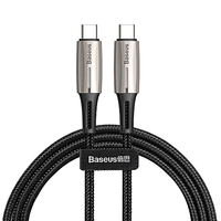Кабель Baseus USB-C to USB-C 60W 1m/2m Black