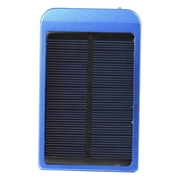 2600mAh Solar Mobile Charger w/ Charging Adapters P1100F 09 - Blue
