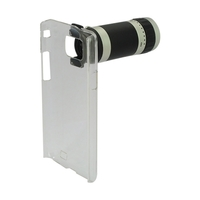 6X Optical Zoom Lens Mobile Phone Telescope with Case for Samsung i9100-Transparent case