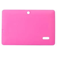 Soft Silicone Protective Case Cover for Q88 7inch Tablet PC - Pink