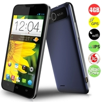 ZTE V967S Quad Core 3G Smartphone MTK6589 1.2GHz 5.0inch QHD IPS Screen 1GB+4GB Android 4.2 5MP Camera Dual SIM WiFi GPS Bluetooth FM - Black + Blue