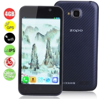 ZOPO ZP700 Cuppy Quad Core 3G Smartphone MTK6582 1.3GHz 4.7inch IPS Screen 1GB+4GB Dual SIM Bluetooth GPS OTG WiFi - Black