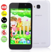 ZOPO ZP700 Cuppy Quad Core 3G Smartphone MTK6582 1.3GHz 4.7inch IPS Screen 1GB+4GB Dual SIM Bluetooth GPS OTG WiFi - White