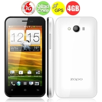 ZOPO ZP600+ Infinity Quad Core 3G Smartphone MTK6582 4.3inch Naked Eye 3D Screen 1GB+4GB Dual SIM Bluetooth GPS OTG - White