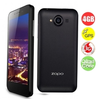 ZOPO ZP600+ Infinity Quad Core 3G Smartphone MTK6582 4.3inch Naked Eye 3D Screen 1GB+4GB Dual SIM Bluetooth GPS OTG - Bla