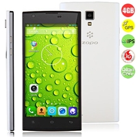 ZOPO ZP780 Quad Core 3G Smartphone MTK6582 5.0 Inch IPS Screen 1GB+4GB Dual SIM GPS WiFi - Black + Whit