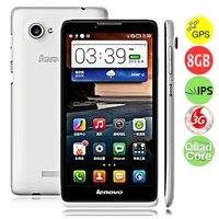 Lenovo A889 Quad Core 3G Smartphone w/ MTK6582 1.3GHz 6.0 Inch IPS Screen Dual SIM 1GB+8GB GPS - White