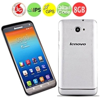 Lenovo S930 Quad Core 3G Smartphone MTK6582 6.0 Inch HD IPS Screen 1GB+8GB Dual SIM GPS - Silver