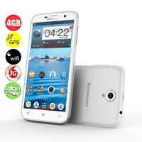 Lenovo A850 Quad Core 3G Smartphone w/ MT6582m 5.5inch IPS Screen 1GB+4GB 5MP Camera WiFi GPS - White