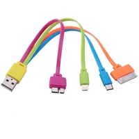 4-in-1 USB Charger Cable for iPhone / iPad / Samsung S4 / Note 3