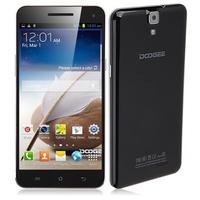 DOOGEE MAX DG650 Quad Core 3G Smartphone MTK6589T 6.5 Inch 1GB+16GB Dual SIM OTG GPS NFC Gesture Sensing - Black