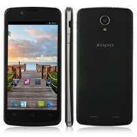 ZOPO ZP590 Quad Core 3G Smartphone MTK6582M 4.5 Inch IPS Screen 512MB+4GB Android 4.4 5.0MP Camera GPS - Black