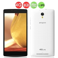 ZOPO ZP520 Quad Core 4G FDD-LTE Smartphone MTK6582M 5.5 Inch IPS Screen 1GB+8GB 8.0MP Camera Android 4.4 - White