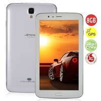 Ampe A73 Quad Core 3G Phone Tablet PC w/ MTK8382 7.0 Inch IPS Screen 1GB+8GB Dual SIM GPS Bluetooth - White