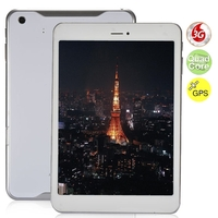 Ampe A80 Deluxe Edition Quad Core 3G Phone Tablet PC w/ MTK8382 7.85 Inch IPS Screen 1GB+16GB GPS Bluetooth - White