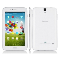 SANEI G602 Quad Core 3G Phone Tablet PC w/ MTK8382 6.2 Inch IPS Screen 512MB+8GB Dual SIM Bluetooth - White