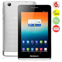 LENOVO S5000 3G Quad Core Phone Tablet PC w/ MTK8125 7.0 Inch IPS Screen 1GB+16GB GPS - Silver