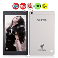 CHUWI V17HD 3G Dual Core Phone Tablet PC w/ Intel Z2520 7.0 Inch IPS Screen 1GB+8GB GPS OTG - Black + White