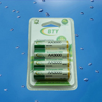 BTY 4X1.2V 3000mAh AA Rechargeable Ni-MH Battery Pack