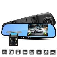 Видеорегистратор ADDKEY - на 2 камеры, запись видео Full HD 1080P, ночное видение, обнаружение движения