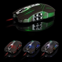 USB Gaming Mouse with 9 Buttons Mice - Coffee/Green