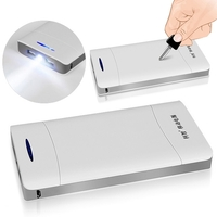 Kezhi 20000mAh LED Flashlight USB Power Bank Portable External Battery Pack