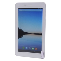 ONDA V719 3G Phone Tablet PC w/ MTK8312 Dual Core 7inch 512MB+8GB Dual SIM Bluetooth WiFi GPS FM OTG - White + Silver