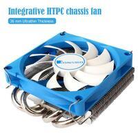 Вентилятор охлаждения процессора Jonsbo HP-400 - тепловые трубки 4, радиатор ультратонкий, 4Pin PWM охлаждающий вентилятор для процессора