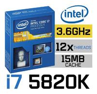 Процессор Intel Core i7 5820K - Тех.процес 22 nm, Ядер 6, Потоков 12, Частота 3600 MHz, Кэш 15Мб
