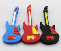 Rubber guitar usb flah drive memory stick thumb drive 32GB
