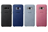 Чехол Samsung Alcantara Cover S8/S8+ Синий/Серый/Черный