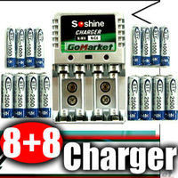 8+8 AA AAA NiMH 1.2v Rechargeable Battery Charger