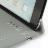 "Ultra-thin 8"" Wireless Bluetooth Keyboard QWERTY Waterproof Stand Leather Case Grey"